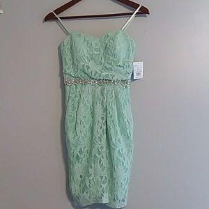 Mint green bridesmaid's dress/prom dress